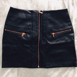 Leather Zip Mini Skirt by Kendall & Kylie
